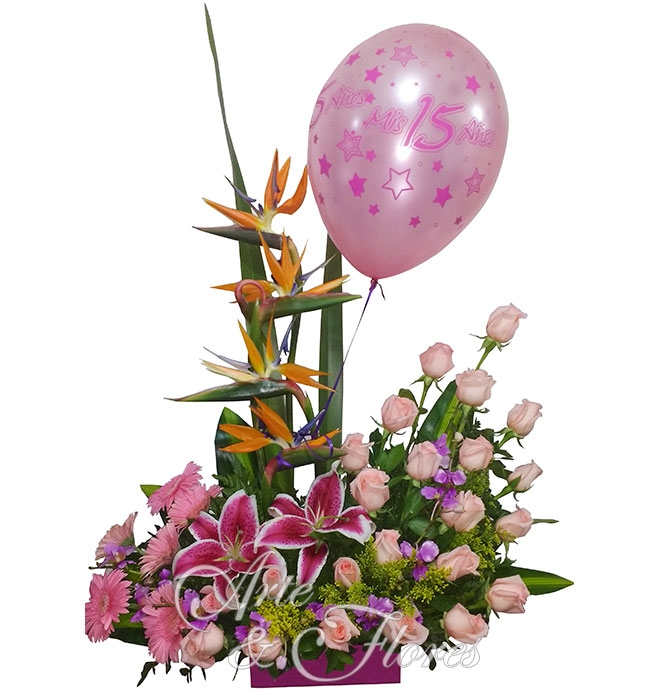 Arreglo Floral Rosa Arte Y Flores Cali