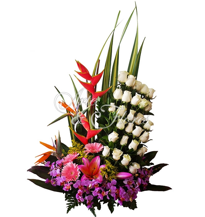 Arreglo Floral Rosas De Paz Arte Y Flores Cali