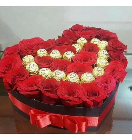 Rosas En Forma De Corazón Arreglos Florales Cali Envíos El Mismo Día
