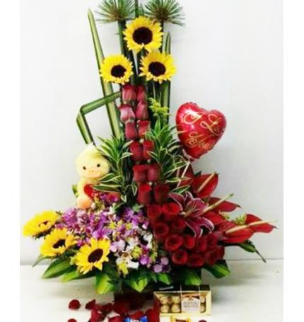 Arreglos Florales Con Peluches Sorprende Con Flores Y Peluches Precios Increibles