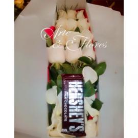 Caja  de rosas blancas Tu Amor